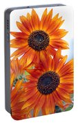 Orange Sunflower 2 Portable Battery Charger