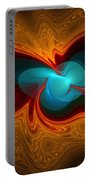 Orange Swirl With Blue Portable Battery Charger