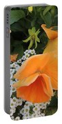 Orange Teardrop With White Lace Portable Battery Charger