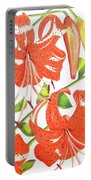 Orange Tiger Lilies Portable Battery Charger