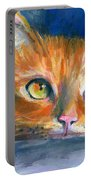 Orange Tubby Cat Painting Portable Battery Charger by Svetlana Novikova
