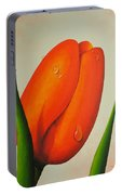Orange Tulip Still Life Portable Battery Charger