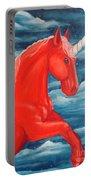 Orange Unicorn Portable Battery Charger
