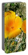 Orange Wildflowers Portable Battery Charger