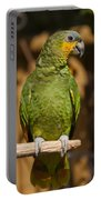 Orange-winged Amazon Parrot Portable Battery Charger by Adam Romanowicz