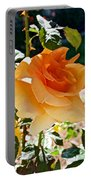 Orange-yellow Rose At Pilgrim Place In Claremont-california Portable Battery Charger