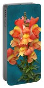 Orange Yellow Snapdragon Flowers Portable Battery Charger
