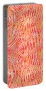 Orange Zebra Print Portable Battery Charger