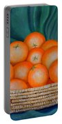 Oranges In A Basket Portable Battery Charger