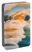 Oranges In The Snow-landscape Painting By V.kelly Portable Battery Charger