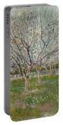 Orchard In Blossom Plum Trees Portable Battery Charger