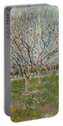 Orchard In Blossom, Plum Trees Portable Battery Charger