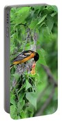 Orchard Oriole Feeding The Kids Portable Battery Charger