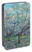 Orchard With Blossoming Plum Trees   Portable Battery Charger