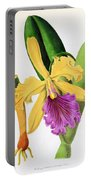 Orchid, Cattleya Dowiana, 1880 Portable Battery Charger