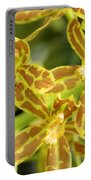 Orchid Drama Canvas Portable Battery Charger