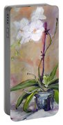 Orchid In White 3 Portable Battery Charger