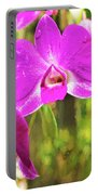 Orchid Oil Painting Portable Battery Charger