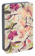 Orchid Pattern Portable Battery Charger