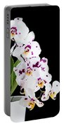 Orchid Phalaenopsis White Flower Portable Battery Charger