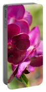 Orchid Vanda Ratchaburi Waxy Red Portable Battery Charger