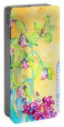 Orchids And Blue Vase Portable Battery Charger