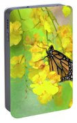 Orchids And Butterfly Painting Portable Battery Charger
