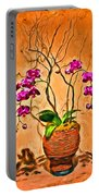 Orchids In Basket Portable Battery Charger
