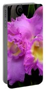 Orchids In Fuchsia  Portable Battery Charger