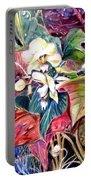 Orchids In White Portable Battery Charger
