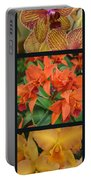 Orchids Vertical Triptych Portable Battery Charger