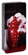 Orchids With Red And Gray Portable Battery Charger