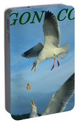 Oregon Coast Amazing Seagulls Portable Battery Charger
