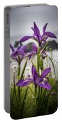 Oregon Iris At The Beach Portable Battery Charger