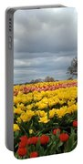 Oregon Tulip Fields 2 Photograph Portable Battery Charger