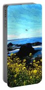 Oregon Wild Flowers Water Color Portable Battery Charger