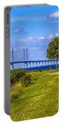Oresund Bridge With Cabanas Portable Battery Charger