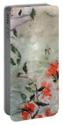 Oriental Orange Flowers Portable Battery Charger