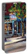 Original Art For Sale Montreal Petits Formats A Vendre Boulangerie St.viateur Bagel Paintings  Portable Battery Charger