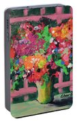 Original Bouquetaday Floral Painting By Elaine Elliott 59.00 Incl Shipping 12x12 On Canvas Portable Battery Charger