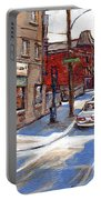 Original Montreal Paintings For Sale Tableaux De Montreal A Vendre Pointe St Charles Scenes Portable Battery Charger
