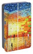 Original Western Wall Jerusalem Wailing Wall Acrylic 2 Panels Portable Battery Charger