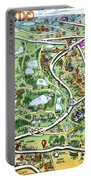 Orlando Florida Cartoon Map Portable Battery Charger