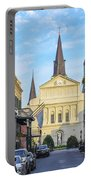 Orleans Street And St Louis Cathedral Portable Battery Charger