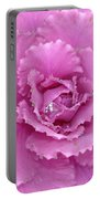 Ornamental Cabbage With Raindrops - Square Portable Battery Charger