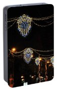 Ornamental Design Christmas Light Decoration In Madrid, Spain Portable Battery Charger