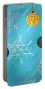 Ornaments And Snowflakes Portable Battery Charger