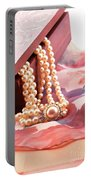 Ornate Box Carved And Pearl Necklace Detail Portable Battery Charger