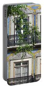 Ornate Building Facade In Lisbon Portugal Portable Battery Charger