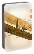 Orville Wright In Wright Flyer 1908 Portable Battery Charger